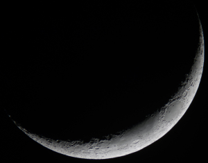20210515夕空の月